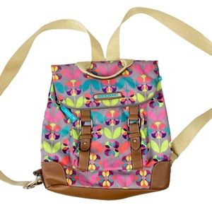 Lily Bloom Josie Backpack Floral Vibrant Colorful